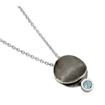 Jorge Revilla 925 Sterling Pendant with Blue Topaz