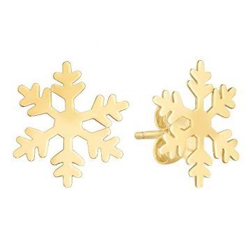 Holiday Treasures 14k Snowflake Earrings