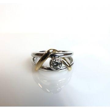 14k Yellow/White Gold Diamond Ring (.29ctw)