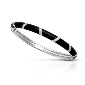 Belle Etoile Glissando Bangle Black-Medium