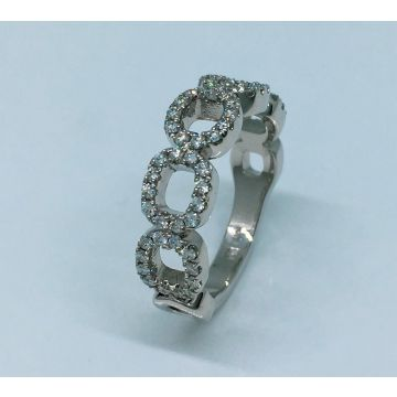 """NEW"" 14k White Gold Diamond Anniversary Ring  (.50ctw)"
