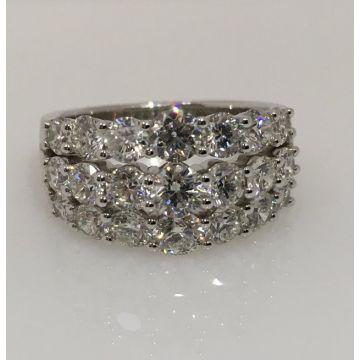 14k White Gold Diamond Anniversary Ring (3.00ctw)