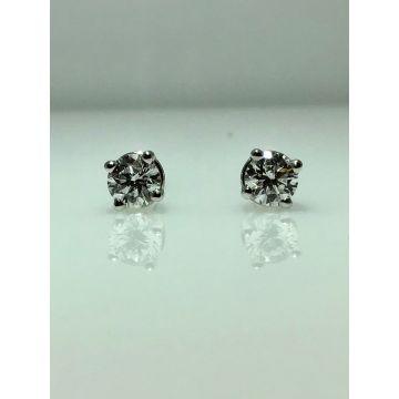 14k white gold diamond stud earrings G/H SI2 (.33ctw)
