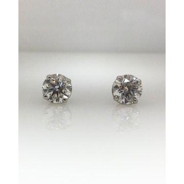 14k white gold diamond stud earrings G/H SI2 (2.02ctw)