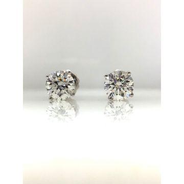 14k white gold diamond stud earrings G/H VS2/SI1 (1.20ctw)