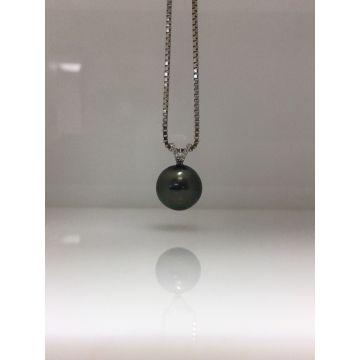 10mm Tahian Diamond Pearl Pendant