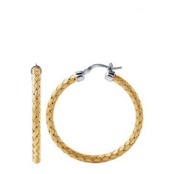 Charles Garnier Sterling 35mm Hoop Earring With 18k Yellwo Gold Finish