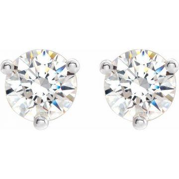 3/4 Carat Diamond Studs Earrings in Martini Settings