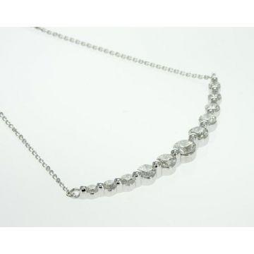 14k White Gold Diamond Bar Pendant (1.00ctw)