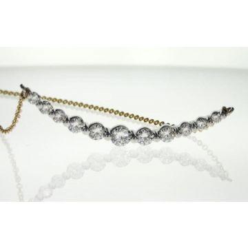 14k White & Yellow  Gold Diamond Bar Pendant (1.05ctw)