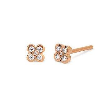 1/8ctw Diamond Earring in 10k Rose Gold