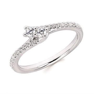 1/4 CTTW Two-Stone Diamond Ring