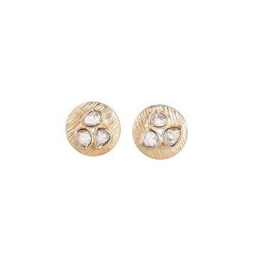 Sterling Silver & 18k Yellow Jorge Revilla Diamond Earrings