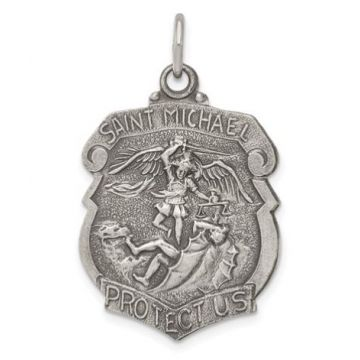 Large Sterling Silver St.Michael Badge
