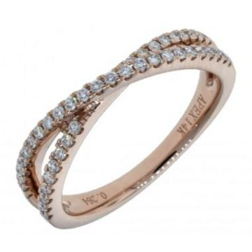 14k Rose Gold Diamond Ring (.28ctw)