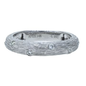 14k White Gold Diamond Fashion Ring (.09ctw)
