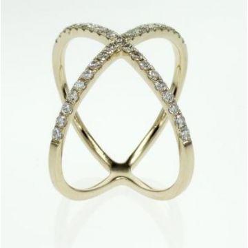 14k Yellow Gold Geometric Diamond Ring (.37ctw)