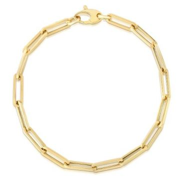 14K Gold 4.2mm Paperclip Chain