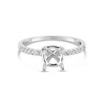 18k White Diamond Engagement Ring