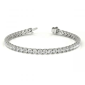 14k White Diamond Tennis Bracelet (8.11ctw)