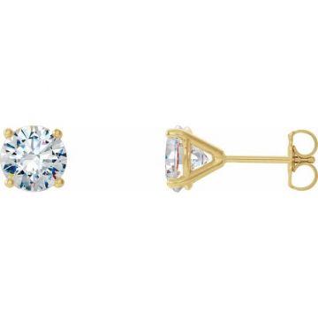 14k Yellow Gold Diamond Studs G/H I1