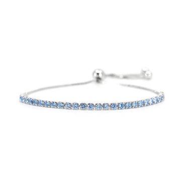 Sterling Silver Swiss Blue Bolo