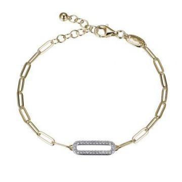 Charles Garnier Sterling Silver CZ Link Bracelet