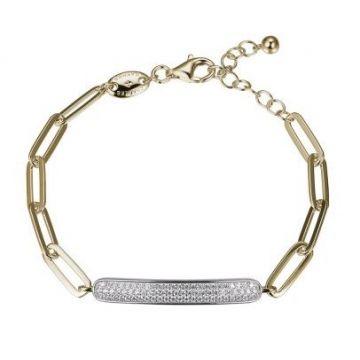 Sterling Silver Bracelet with CZ Pave Motif