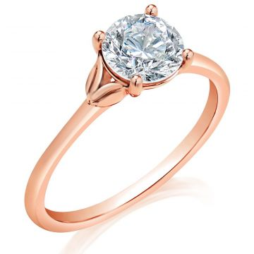 Classique 14k Rose Gold Engagement Ring