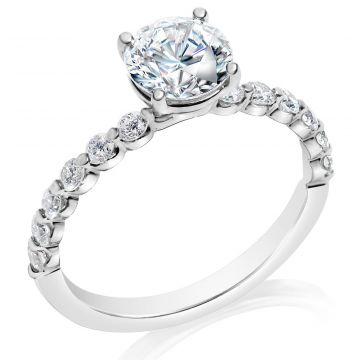 Classique 14k White Diamond Engagement Ring (.41tw)