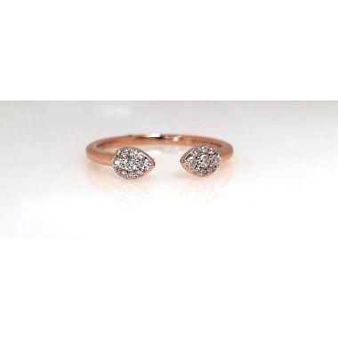 14k Rose Gold Diamond Fashion Ring (.14ctw)