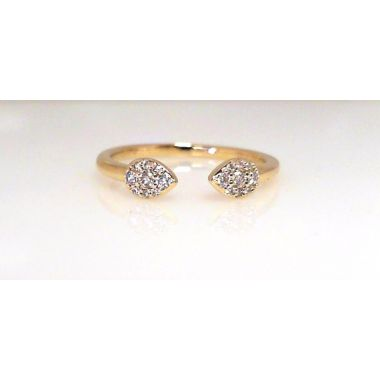 14k Yellow Gold Diamond Fashion Ring (.14ctw)