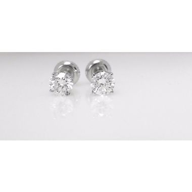 14k White Gold Carat Diamond Studs (1.07ctw)