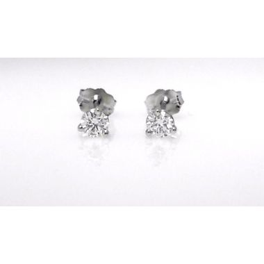 14k White Gold Martini Stud Earrings (.25ctw)