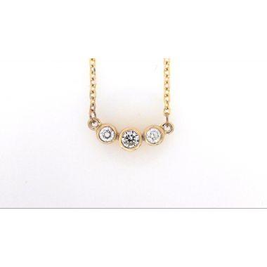 14k Yellow Gold Diamond Fashion Pendant (.33ctw)