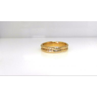 Jorge Revilla 925 Rope Ring in Yellow