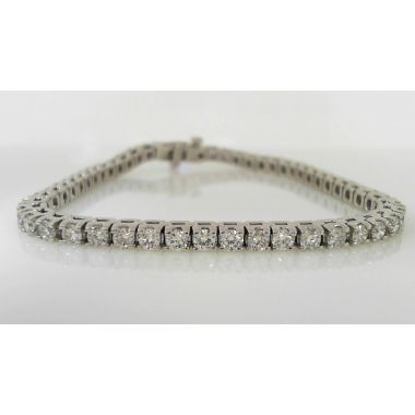 Elegant Platinum Diamond Tennis Bracelet