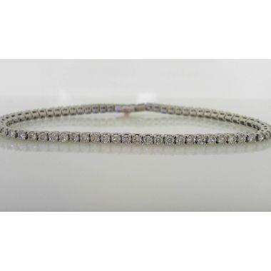 Elegant Platinum Diamond Tennis Bracelet (2.76 ctw)
