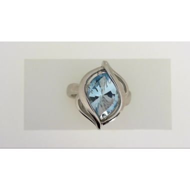 925 Sterling Silver Fancy Blue Topaz Fashion Ring