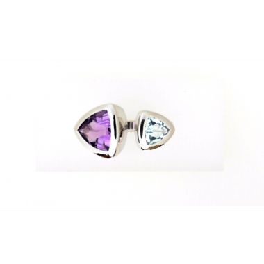925 Sterling Silver Bypass Gemstone Fashion Ring