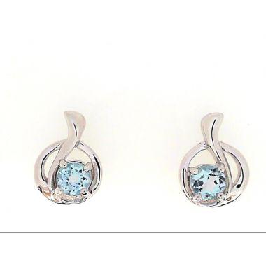 925 Sterling Silver Blue Topaz Fashion Earrings