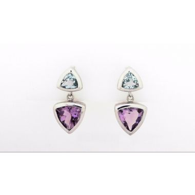 925 Sterling Silver Dangle Gemstone fashion Earrings