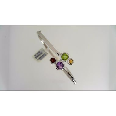 925 Sterling Silver Multi-Color Fashion Bangle