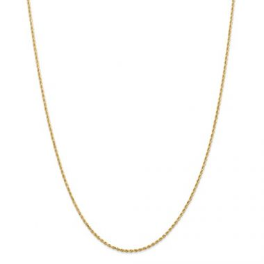14k 1.5mm Solid Diamond Cut Rope Chain