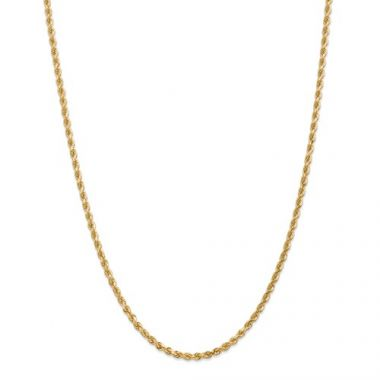 14k 3.00mm Solid Gold Diamond Cut Rope Chain