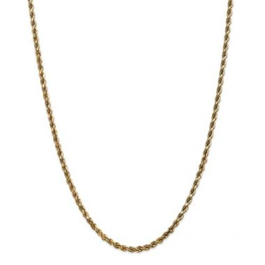 14k 3.50mm Solid Diamond Cut Rope Chain