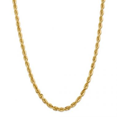 14k 5.5mm Solid Diamond Cut Rope Chain