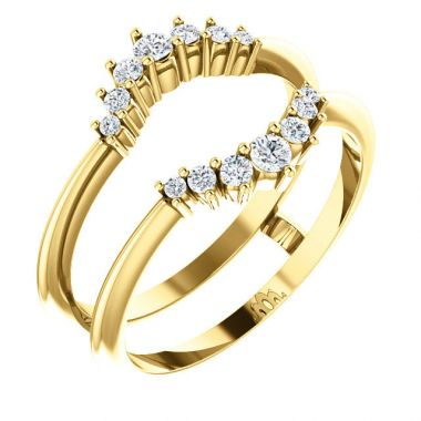 Sieger's Jewelers 14k Yellow Gold Diamond Ring Guard