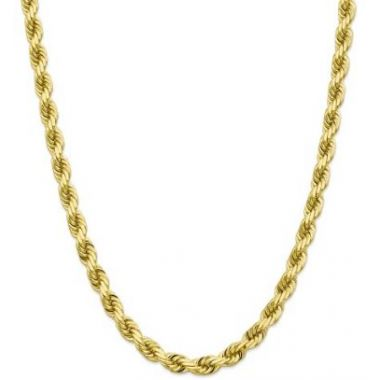 10k 8mm Solid Diamond Cut Rope Chain