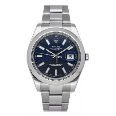 Pre-Owned Rolex Datejust 11 Stainless Steel Blue Dial